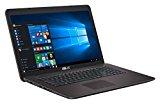 #1: Asus F756UV-T4123T 43,94 cm (17,3 Zoll, mattes Full-HD Display) Notebook (Intel Core i5-7200U, 8GB Arbeitsspeicher, 1TB HDD Festplatte, NVidia 920MX, Win 10) dunkelbraun